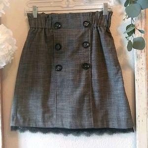 Dynamite women's mini plaid skirt